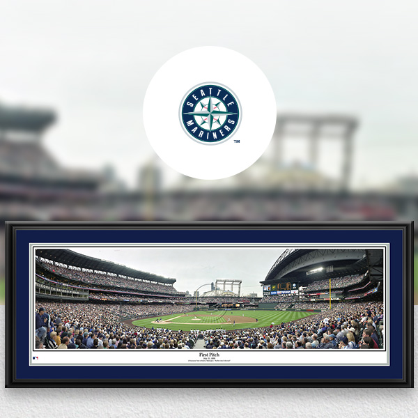 SEattle Mariners MLB Baseball Framed Panoramic Fan Cave Decor