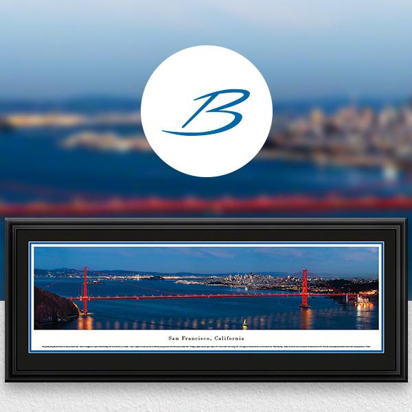 San Francisco, CA City Skyline Panoramic Wall Art