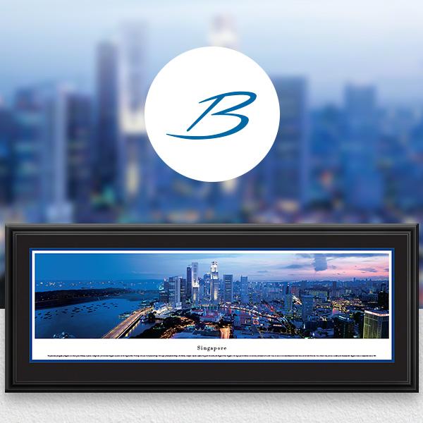 Singapore City Skyline Panoramic Wall Art