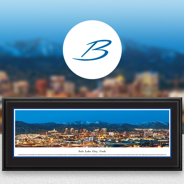 Salt Lake City, UT City Skyline Panoramic Wall Art