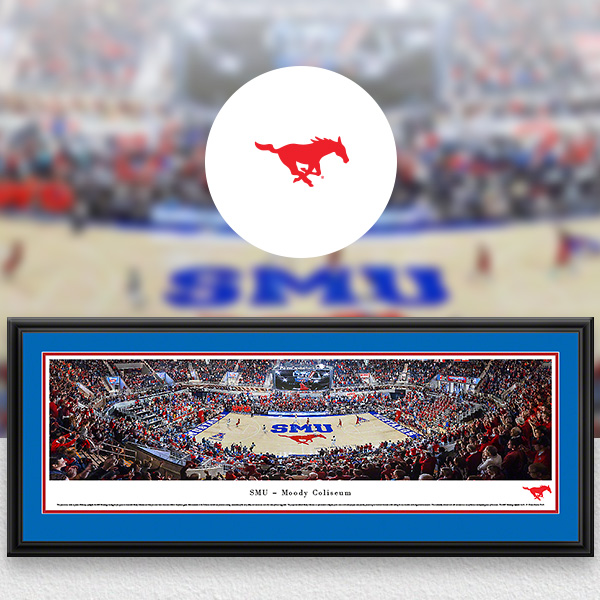 SMU Mustangs Panoramic Posters and Fan Cave Decor