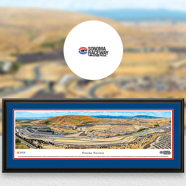 Sonoma Raceway NASCAR Panoramic Posters and Fan Cave Decor