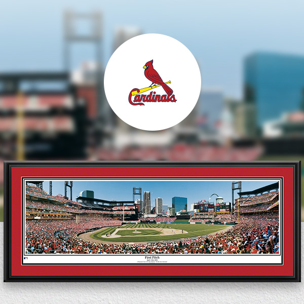 St. Louis Cardinals MLB Baseball Framed Panoramic Fan Cave Decor