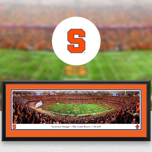 Syracuse Orange Panoramic Posters and Fan Cave Decor