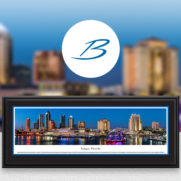 Tampa, FL City Skyline Panoramic Wall Art