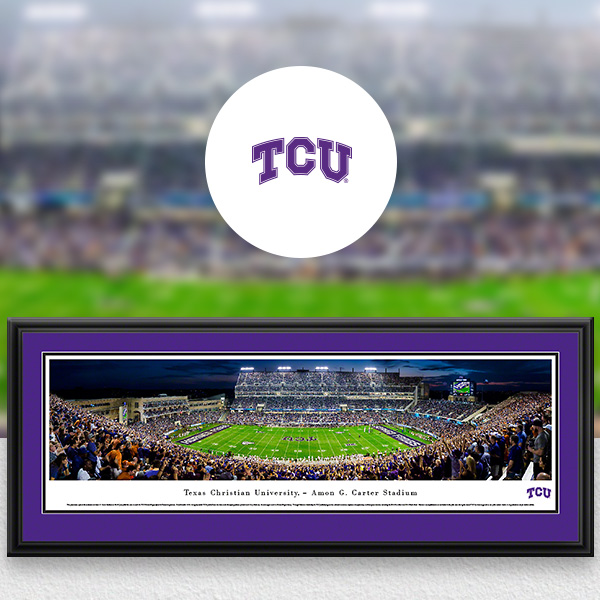 TCU Horned Frogs Panoramic Posters and Fan Cave Decor