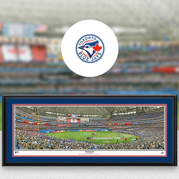 Toronto Blue Jays MLB Baseball Framed Panoramic Fan Cave Decor