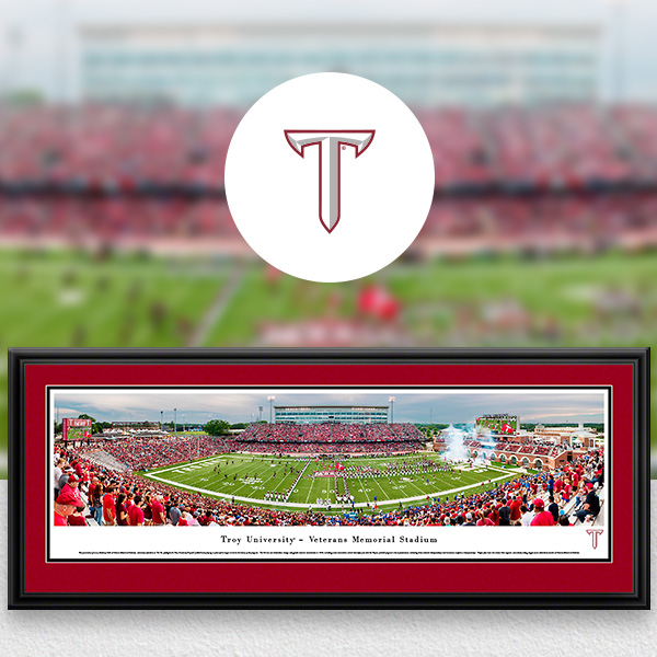 Troy Trojans Panoramic Posters and Fan Cave Decor