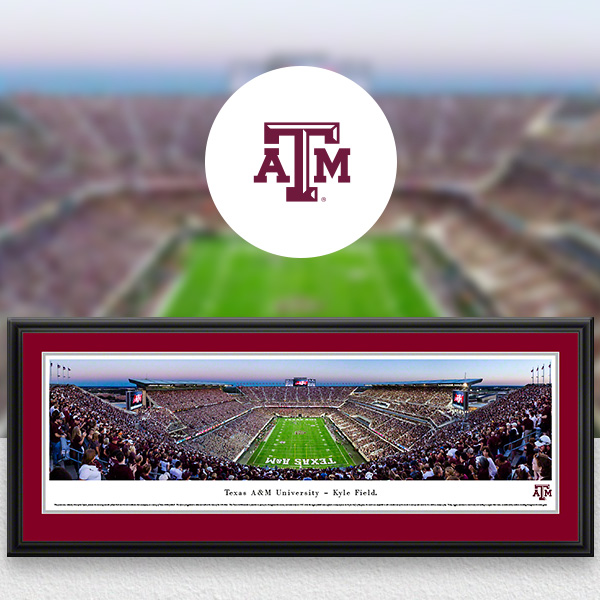 Texas A&M Aggies Panoramic Posters and Fan Cave Decor