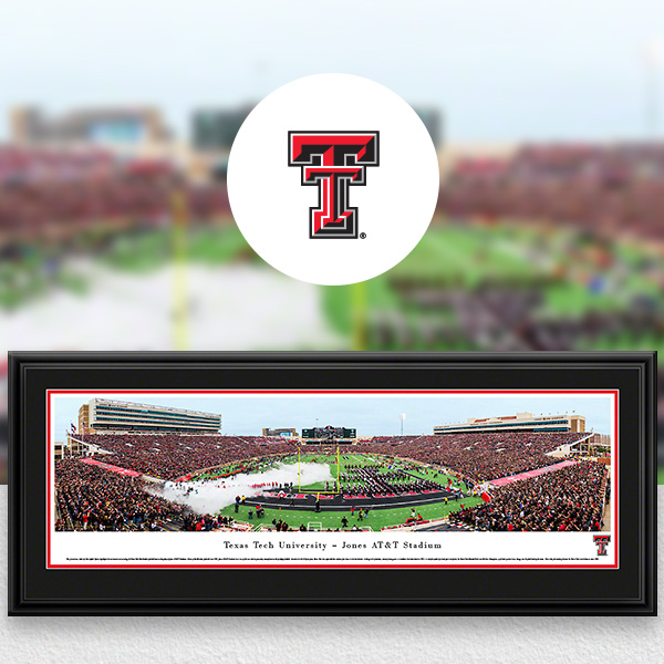 Texas Tech Red Raiders Panoramic Posters and Fan Cave Decor