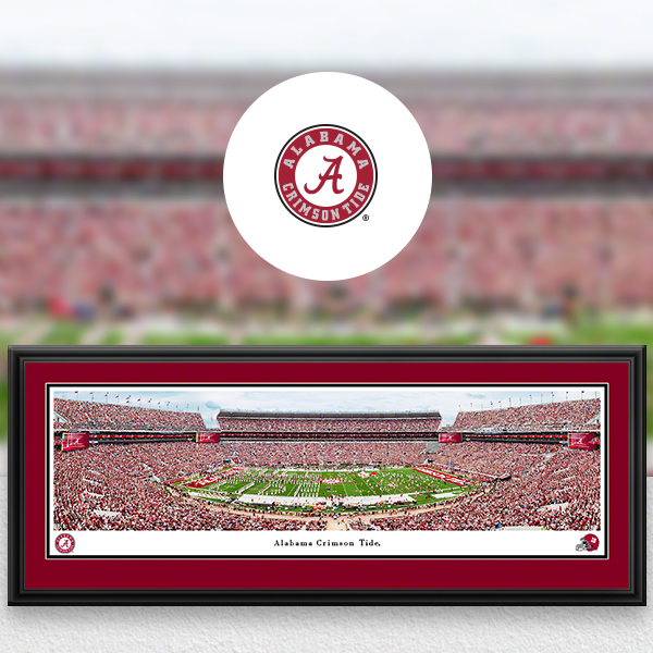 Alabama Crimson Tide Panoramic Posters and Fan Cave Decor