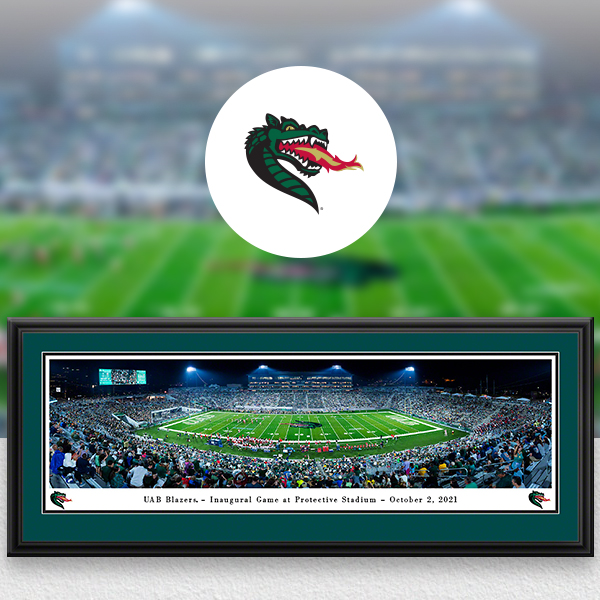 UAB Blazers Panoramic Posters and Fan Cave Decor