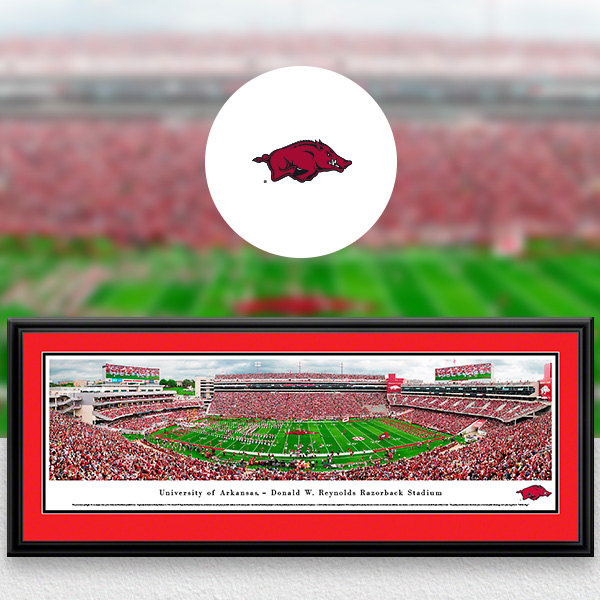 Arkansas Razorbacks Panoramic Posters and Fan Cave Decor