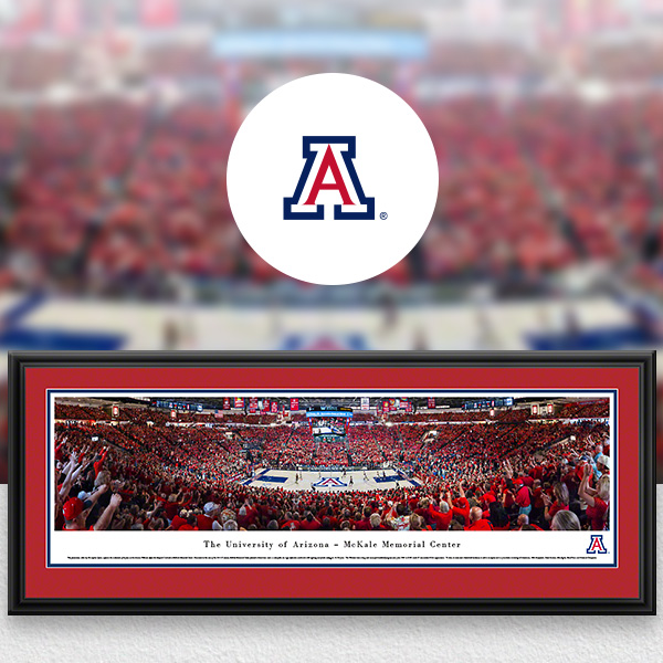 Arizona Wildcats Panoramic Posters and Fan Cave Decor