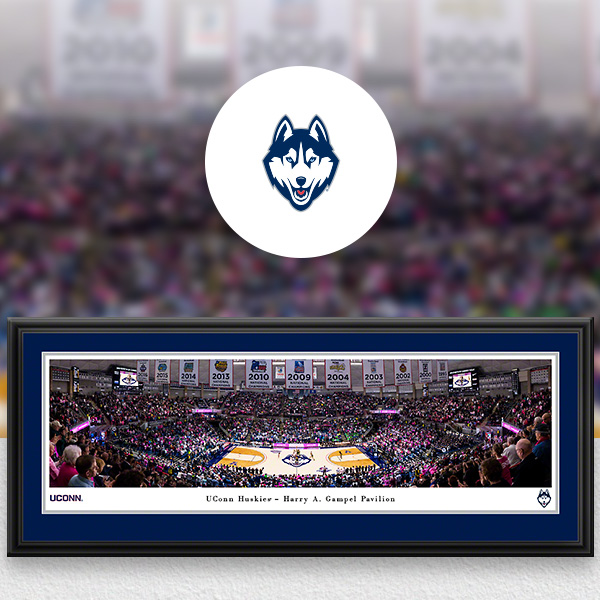 UConn Huskies Panoramic Posters and Fan Cave Decor