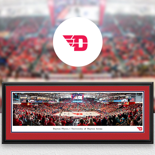 Dayton Flyers Panoramic Posters and Fan Cave Decor