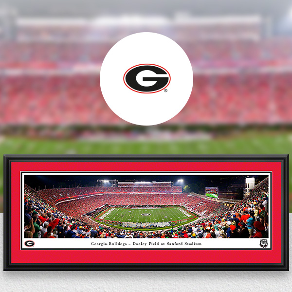 Georgia Bulldogs Panoramic Posters and Fan Cave Decor