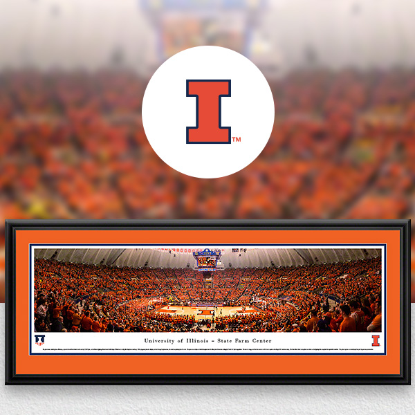 Illinois Fighting Illini Panoramic Posters and Fan Cave Decor