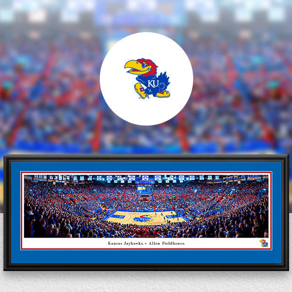 Kansas Jayhawks Panoramic Posters and Fan Cave Decor