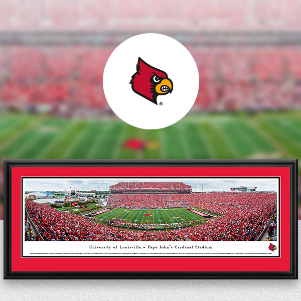 Louisville Cardinals Panoramic Posters and Fan Cave Decor