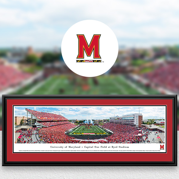 Maryland Terrapins Panoramic Posters and Fan Cave Decor