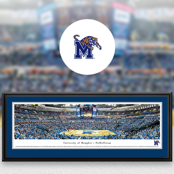 Memphis Tigers Panoramic Posters and Fan Cave Decor