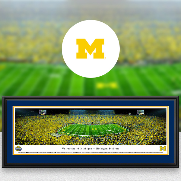 Michigan Wolverines Panoramic Posters and Fan Cave Decor