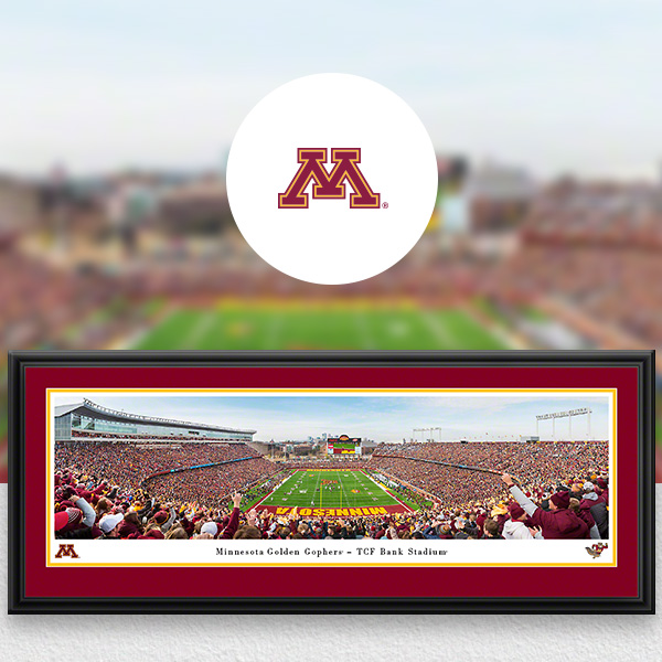 Minnesota Golden Gophers Panoramic Posters and Fan Cave Decor