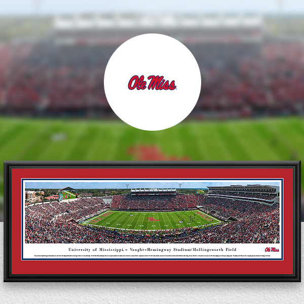 Ole Miss Rebels Panoramic Posters and Fan Cave Decor