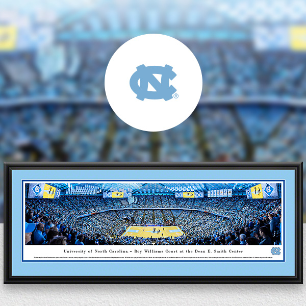 North Carolina Tar Heels Panoramic Posters and Fan Cave Decor