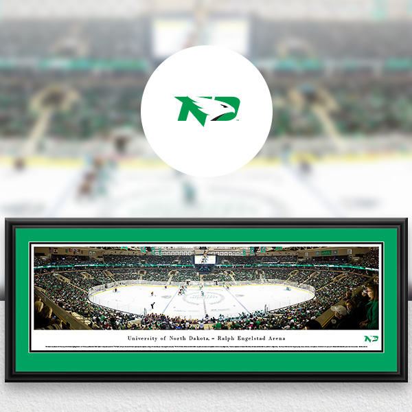 North Dakota Fighting Hawks Panoramic Posters and Fan Cave Decor