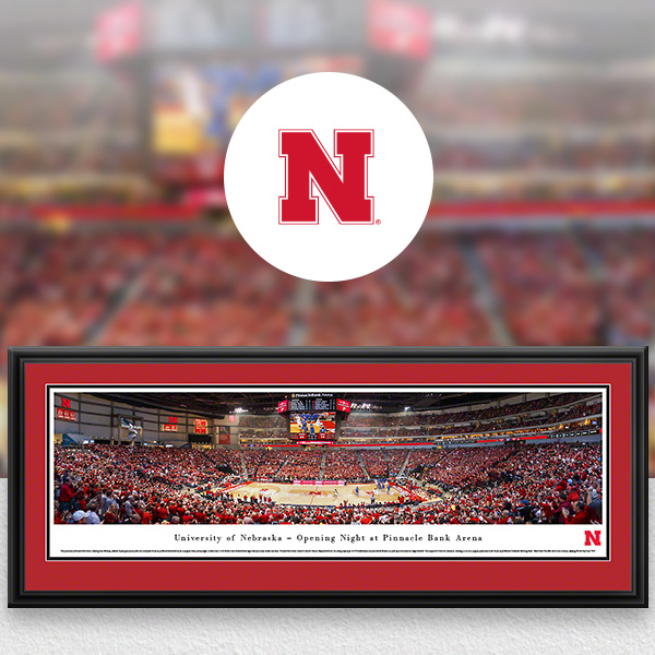 Nebraska Huskers Panoramic Posters and Fan Cave Decor