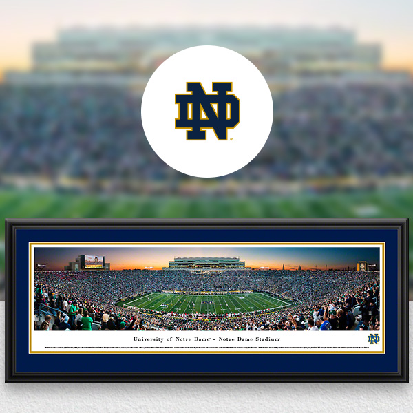 Notre Dame Fighting Irish Panoramic Posters and Fan Cave Decor
