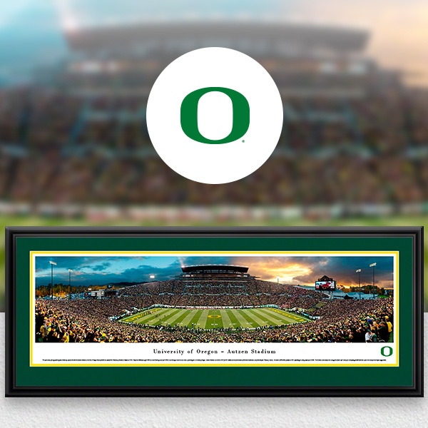 Oregon Ducks Panoramic Posters and Fan Cave Decor