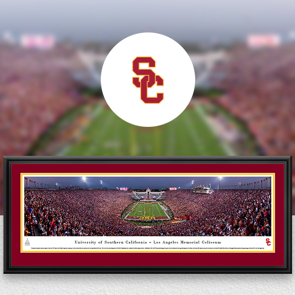 USC Trojans Panoramic Posters and Fan Cave Decor