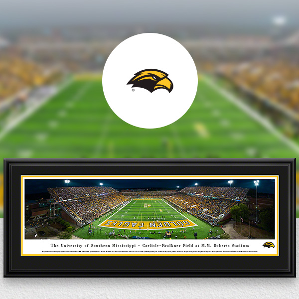 Southern Miss Golden Eagles Panoramic Posters and Fan Cave Decor