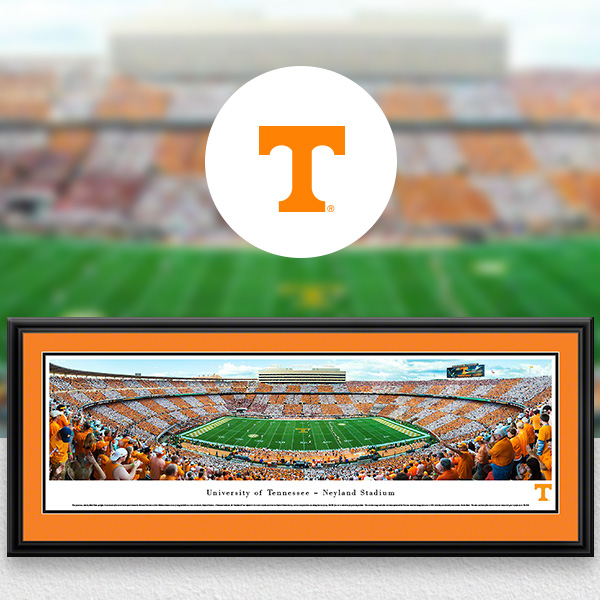 Tennessee Volunteers Panoramic Posters and Fan Cave Decor
