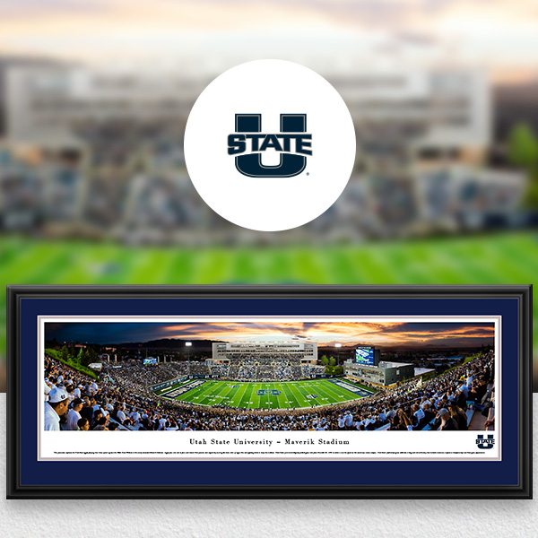 Utah State Aggies Panoramic Posters and Fan Cave Decor