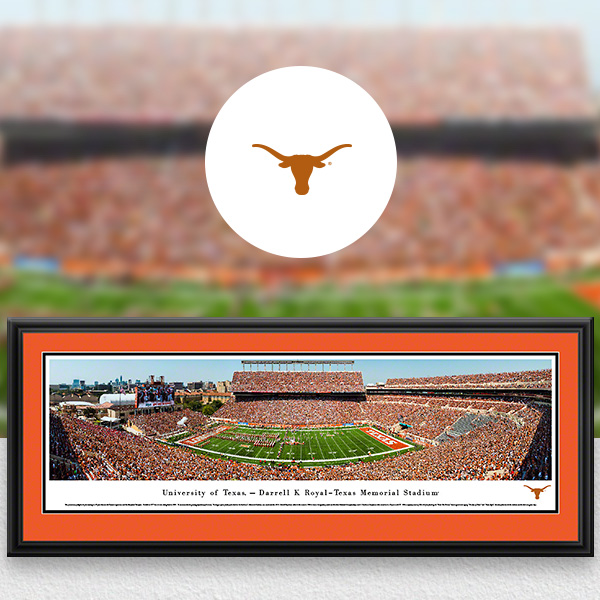 Texas Longhorns Panoramic Posters and Fan Cave Decor