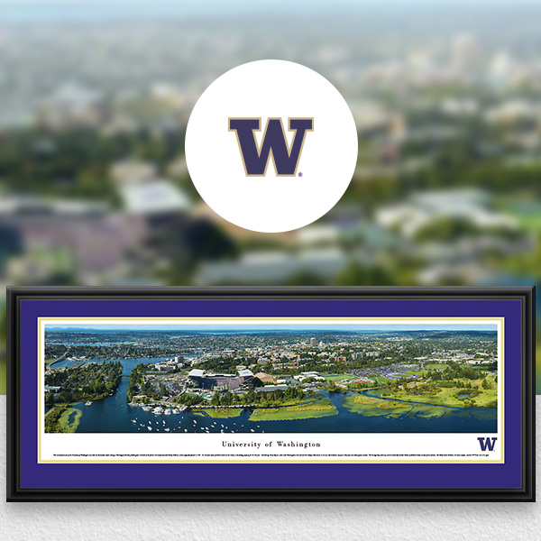 Washington Huskies Panoramic Posters and Fan Cave Decor