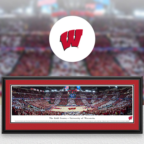 Wisconsin Badgers Panoramic Posters and Fan Cave Decor