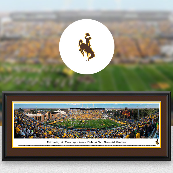 Wyoming Cowboys Panoramic Posters and Fan Cave Decor