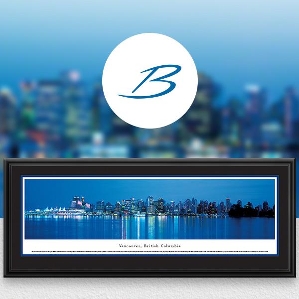 Vancouver, BC City Skyline Panoramic Wall Art