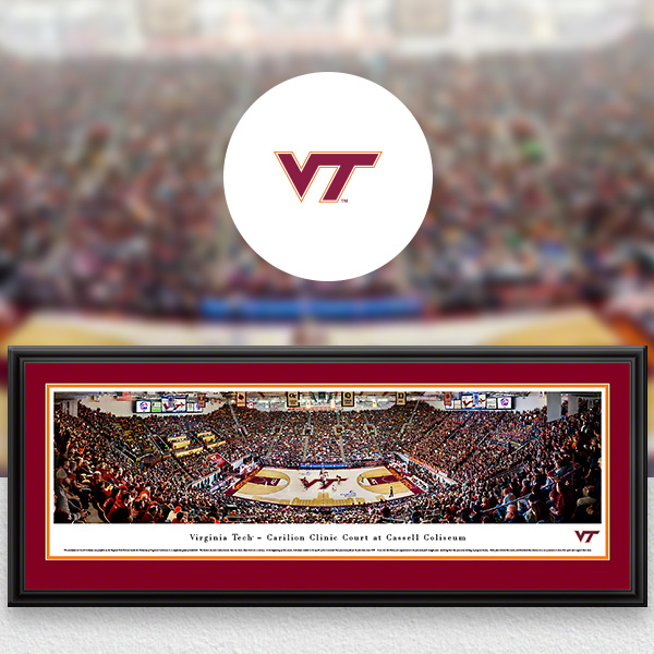 Virginia Tech Hokies Panoramic Posters and Fan Cave Decor