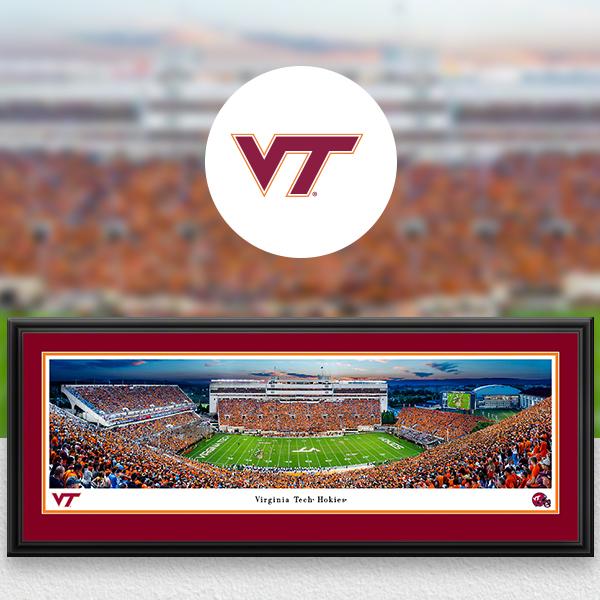 Virginia Tech Hokies Panoramic Posters and Fan Cave Decor