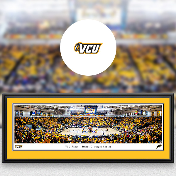 VCU Rams Panoramic Posters and Fan Cave Decor