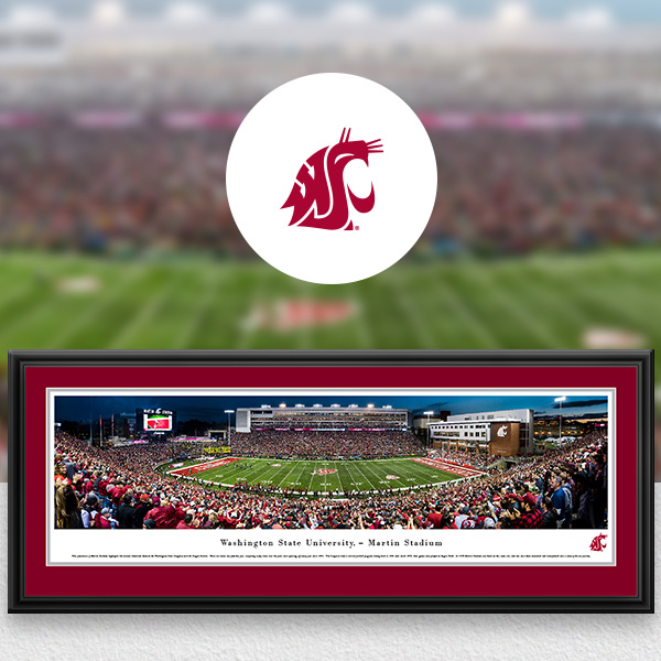 WSU Cougars Panoramic Posters and Fan Cave Decor