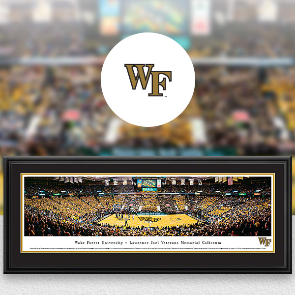 Wake Forest Demon Deacons Panoramic Posters and Fan Cave Decor