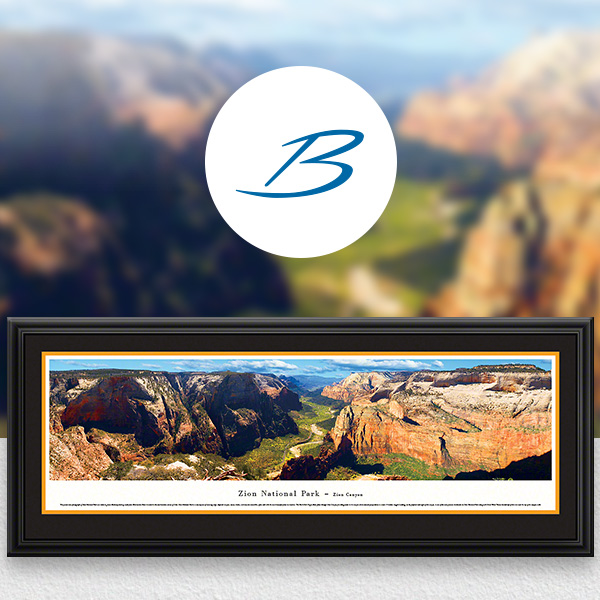 Zion National Park Scenic Landscape Panoramic Wall Art
