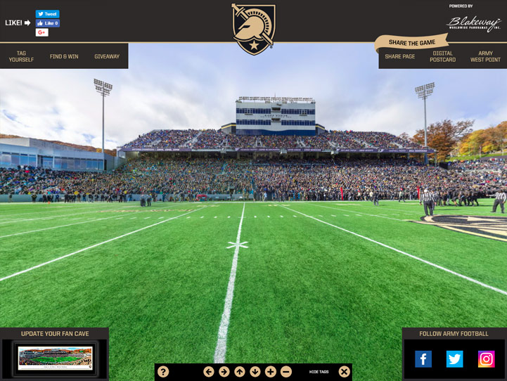 Army Black Knights 360 Gigapixel Fan Photo